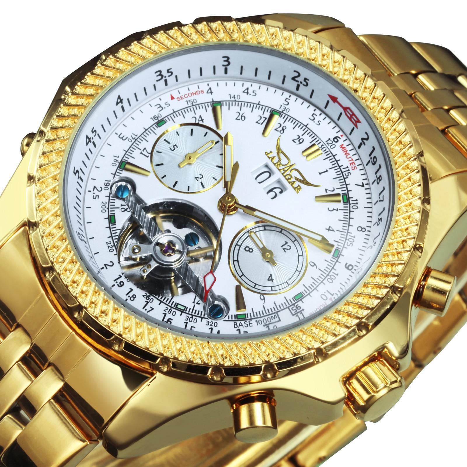 Золотые часы Для мужчин часы 2020 Роскошные лучший бренд Tourbillon автоматические механические часы календарь Большой Сталь ремешок часы мужски...
