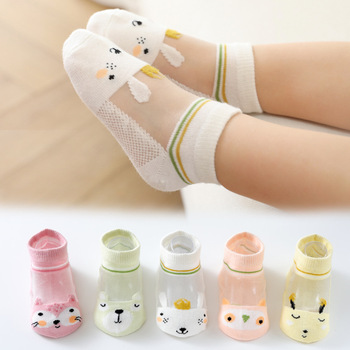 5 pairs 3-12 years old children's socks all genders Mesh Cotton Class A boys kids KS-2 for girls - discount item  20% OFF Children's Clothing