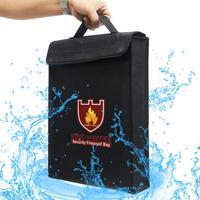 Saco de segurança da bateria dupla face à prova de fogo saco resistente ao fogo bolsa para o dinheiro da bateria documento proteger o suporte do saco