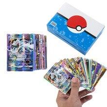 200 sztuk GX Pokemon Box TAG gra zespołowa bitwa Carte karty kolekcjonerskie nie powtórzyć Shining kolekcja karty dzieci zabawki V MAX MEGA Seri
