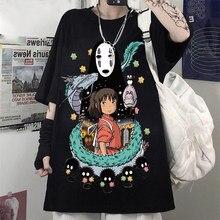 Totoro harajuku gótico verão anime camiseta moda impressão dos desenhos animados topos harry estilos mulher tshirts feminino nova camisa casual y2k