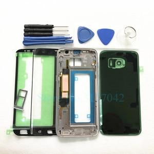 Image 2 - Volledige Behuizing Case Voor Samsung Galaxy S7 Rand S7 G935F G930F Voor Glas Midden Frame Batterij Deur Achter Glas cover