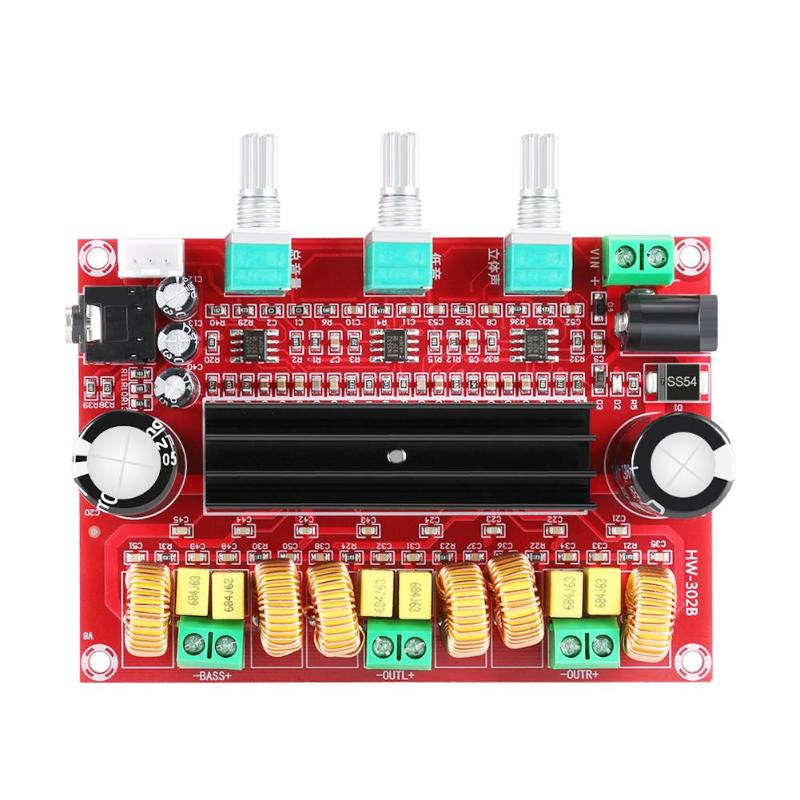 <font><b>TPA3116D2</b></font> <font><b>2.1</b></font> Digital Audio Power Amplifier Board DC 24V 80Wx2+100W 3 Channel <font><b>Subwoofer</b></font> Amplificador Module for 4-8 Ohm Speaker image