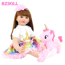 Doll Toy Unicorn Cloth-Body Birthday-Gift Alive Reborn Toddler Baby Bebe-Girl Princess