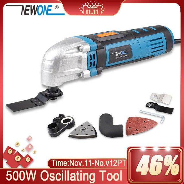 NEWONE herramienta eléctrica multifunción, recortador eléctrico, renovador, sierra, cortador de 500W, herramienta oscilante con mango, cuchillas multiusos
