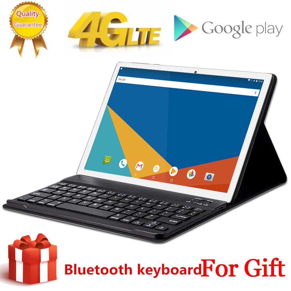 2020 Free Gift Bluetooth Keyboard 4G LTE 10.1 Inch 2.5D Tablet Pc 1920x1200 10 Deca Core MTK6797 8GB RAM 256GB ROM Android 8.0