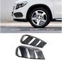 Carbon Fiber Front Bumper Air Vent Cover Trim for Benz GLA Class X156 GLA 200 GLA260 GLA45 2014 2016 Fog lamp Mesh Grill Frame