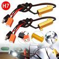 2 PCS H7 50W 6Ω LED Canbus Last Widerstand Warnung Canceler Decoder Licht Fehler Kostenloser Auto LED licht Last widerstand Auto Zubehör