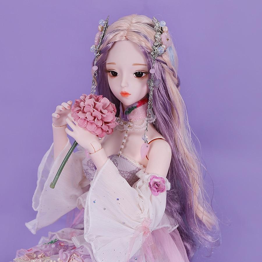 Traum Fee 1/3 BJD Prinzessin Kleid 62cm Ball Jointed Puppen Vollen Satz Französisch Stil Kostüm Make-Up BJD Puppen für mädchen SD MSD