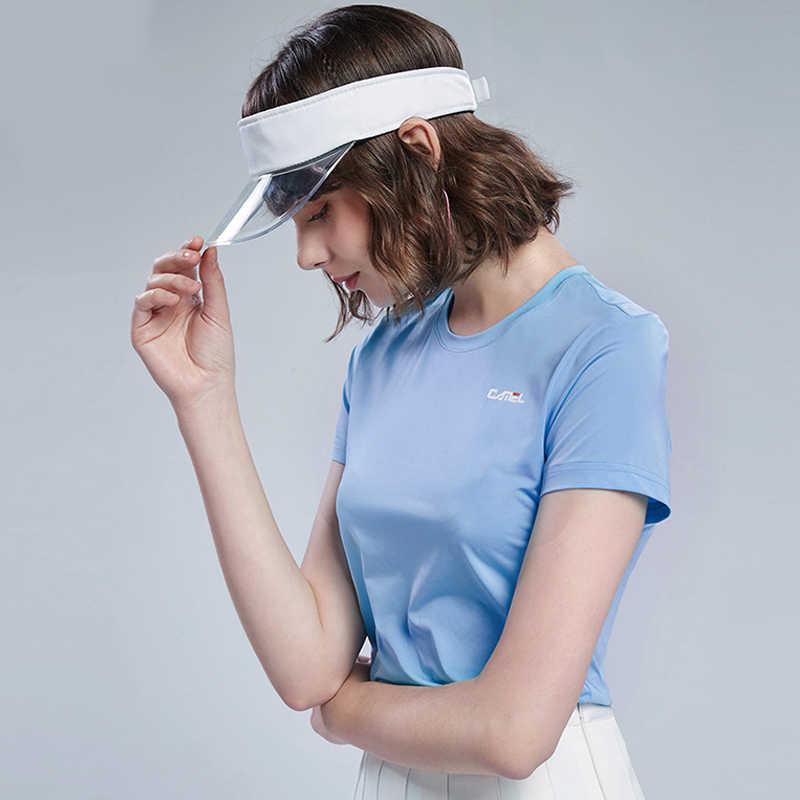 Deve erkekler kadınlar dış mekan T-shirt rahat açık spor hızlı kuru nefes üstleri eğitim T-shirt