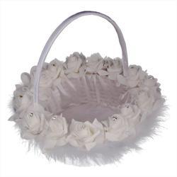 Casamento flor menina cesta pena noiva cesta para casamento cerimônia festa decoração