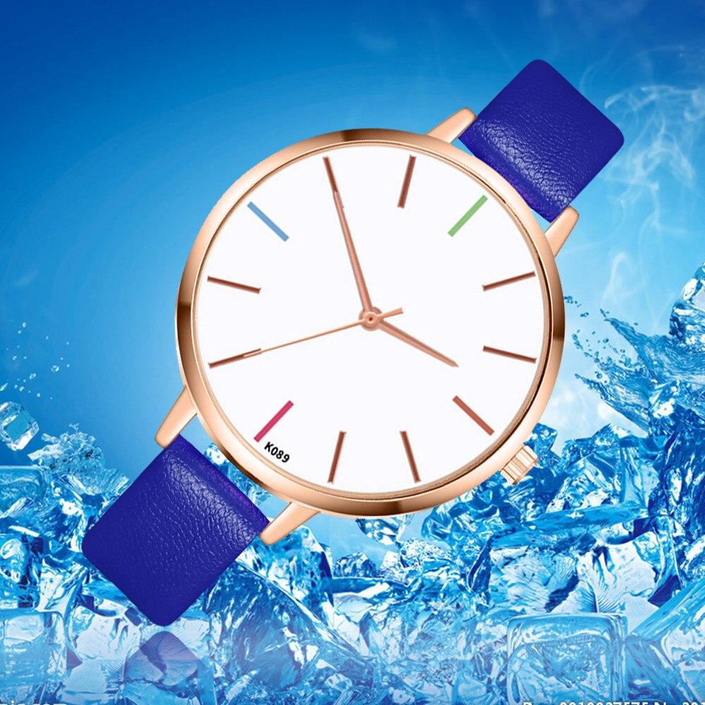 New Simple Style 2020 Women Watch Leather Fashion Brand Zegarek Damsk Bracelet Wristwatch Ladies Montre Femme Casual Clock#W
