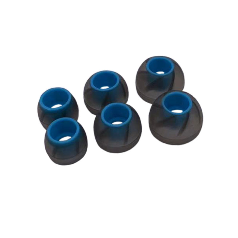 ANJIRUI 4,5 m Negro Azul (L M S) para auriculares almohadilla para auriculares con espirales auriculares ergonómicos auriculares elásticos Silicona