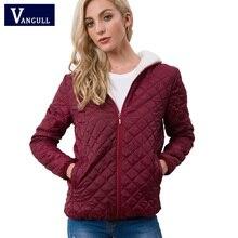 Vangull春の新作秋女性の服フード付きフリース基本ジャケット長袖女性のコートショートジッパーカジュアルなアウターウェア