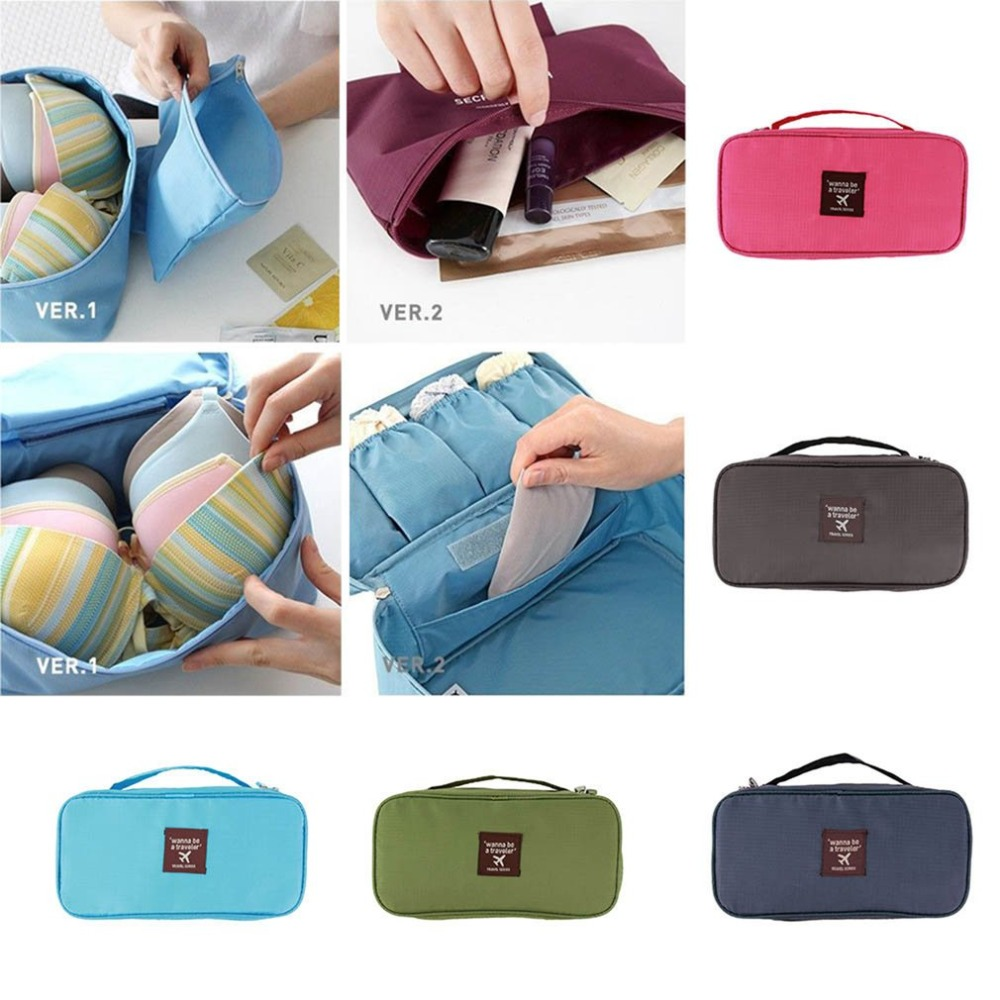Portable Protect Bra Underwear Lingerie Case Travel Organizer Bag Waterproof Women Cosmetic Makeup Storage Case