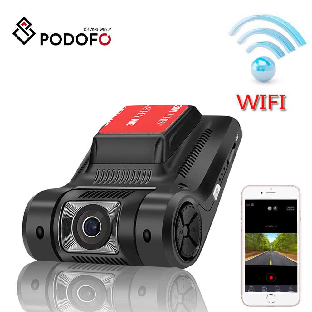 Podofo نوفاتيك 96658 واي فاي المخفية جهاز تسجيل فيديو رقمي للسيارات البسيطة كاميرا Registrator داش كاميرا FHD 1080P WDR للرؤية الليلية الرقمية مسجل فيديو