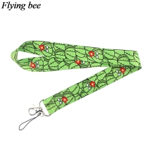 Flyingbee Funny cactus Keychain Cartoon Cute Phone Lanyard Women Fashion Strap Neck Lanyards for ID Card Phone Keys X0715