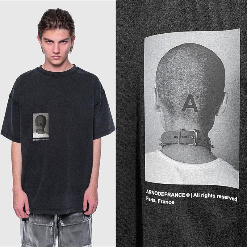 2020ss Arnodefrance футболка для мужчин и женщин, футболка 1:1, высокое качество, мужские футболки из хлопка больших размеров Arno De Frace ADF