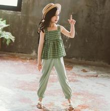 girls clothing set polka dot kids tops with mathing leggings 2018 spring children outfits 4 10 15 years girls clothes sets Girls Clothes Set Summer Kids Sleeveless Princess Tops Pants Two Piece Set Children Clothing Girls Outfits 7 8 9 10 12 13 Years