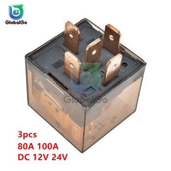 цена на 3pcs/Lot Waterproof Automotive Relay 12V 100A 5Pin SPDT Car Control Device Car Relays DC 24V 80A High Capacity Switching