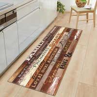 Felpudo nórdico de cocina para dormitorio, Felpudo de entrada, decoración para el suelo del recibidor de casa, alfombra para salón, alfombra antideslizante de madera de grano para Baño