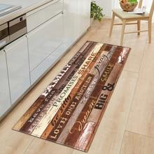 Felpudo nórdico para cocina, Felpudo de entrada para dormitorio, decoración para el suelo del pasillo del hogar, sala de estar alfombra para, alfombra antideslizante para baño de grano de madera