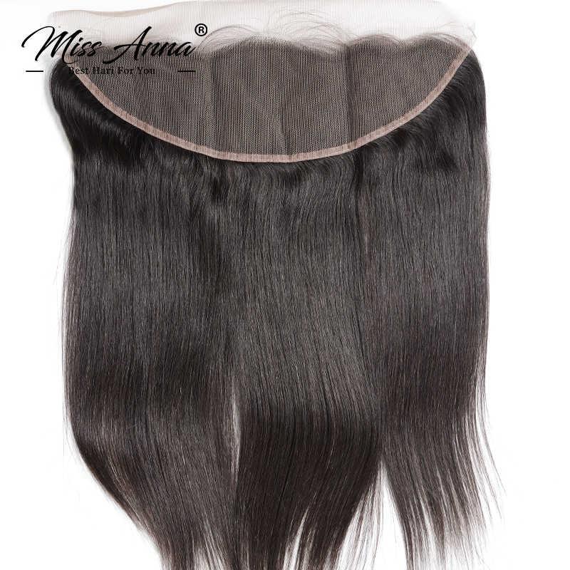 Missanna feixes de cabelo brasileiro, pacotes de cabelos lisos e fechamento frontal de cabelo humano com 30 polegadas com cabelo virgem frontal