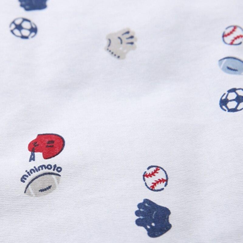 Minimoto 90*90cm Baby Swaddle Blanket Blue Baby Sleeping Swaddle Wrap Cotton Hold Hat Quilt Picnic Travel Kid Beding Sleepsacks - 4