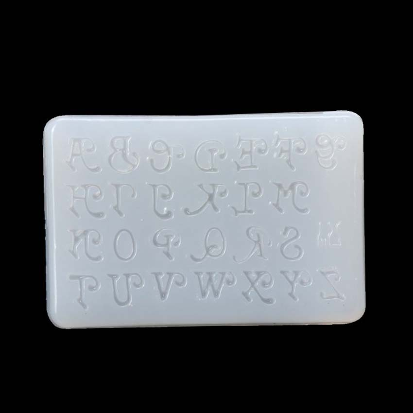Letters Jewelry Making Mold Silicone Mould DIY Craft Key Chain Epoxy Resin Mold