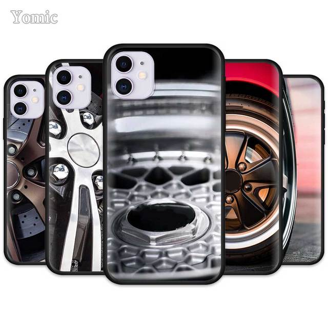 Sports Car Wheel Tire Speed Case for Apple iPhone 11 Pro XR X XS MAX 7 8 6 6S Plus 5 5S SE Black Soft Mobile Phone Cover Shell