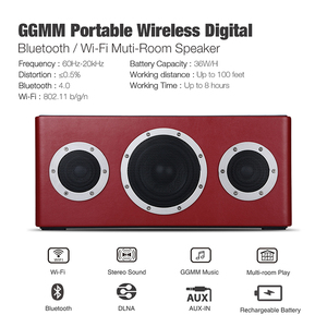 Image 2 - GGMM M4 Wireless WiFi Speaker Bluetooth Speaker MFi Certificated Portable Heavy Bass Sound for iOS Android With Multi room Play