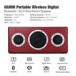 Image 2 - GGMM altavoz M4 inalámbrico por Bluetooth, altavoz portátil de graves pesados con certificado MFi para iOS y Android, con reproducción en varias habitaciones