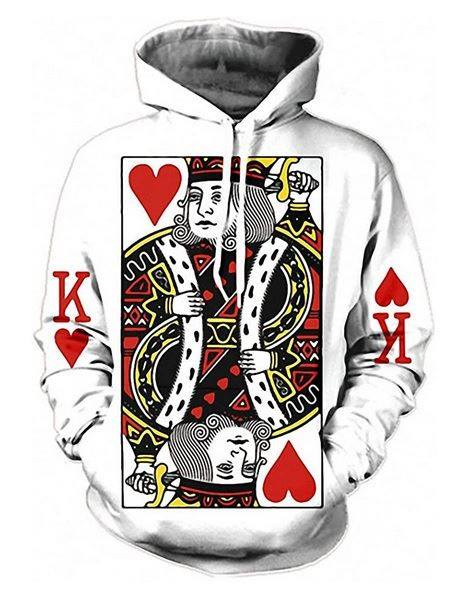 PLstar Cosmos Playing Cards 3D Hoodie Hoodies Men Women New Fashion Autumn Hooded Sweatshirt Long Sleeve Pullover