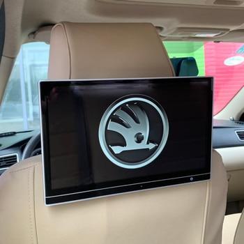 12.5 Inch Auto TV 12V LCD Screen Android 7.1 Head Rest Monitor For Skoda Fabia Octavia Rapid Superb Yeti Car Pillow Monitor 2PCS