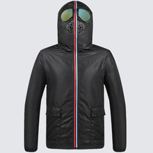 Lawrenceblack Jackets Men with Glasses Protective Coverall  Hooded Coat Mens Face Cover Children Windproof Jacket