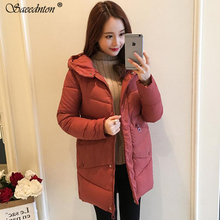2019 High Quality Winter Coat Women Hooded Windproof Jacket Long Women's Clothing High-grade Down Cotton Padded Parkas Overcoat icebear 2018 new high quality winter coat women hooded windproof jacket long women s clothing high grade metal zipper gwd18101d