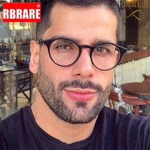 Rbrare 2021 vintage óculos redondos homens/mulheres marca de luxo armações homens vintage high end óculos homens gafas de marca