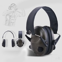 New TAC 6 Anti-Noise Audio Tactical Shooting Headphone Soft Padded Electronic Earmuff for Sport Hunting Outdoor Sports