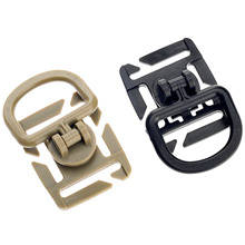 Ring-Rotation Molle Buckle-Clip Webbing-Buckle 18mm-25mm-Locking-Carabiner-Backpack Swivel-D