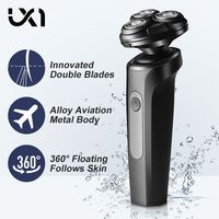 UICINOY Triple Blade Electric Shaver Male Washable Rechargeable Shaving Beard Machine 3D Head Dry Wet Razor Shaving Machine New 1