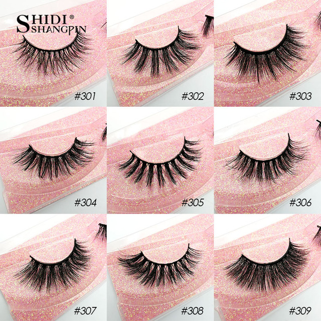 SHIDISHANGPIN Wholesale Eyelashes 3d Mink Lashes Natural Mink Eyelashes Wholesale False Eyelashes Makeup False Lashes In Bulk 3