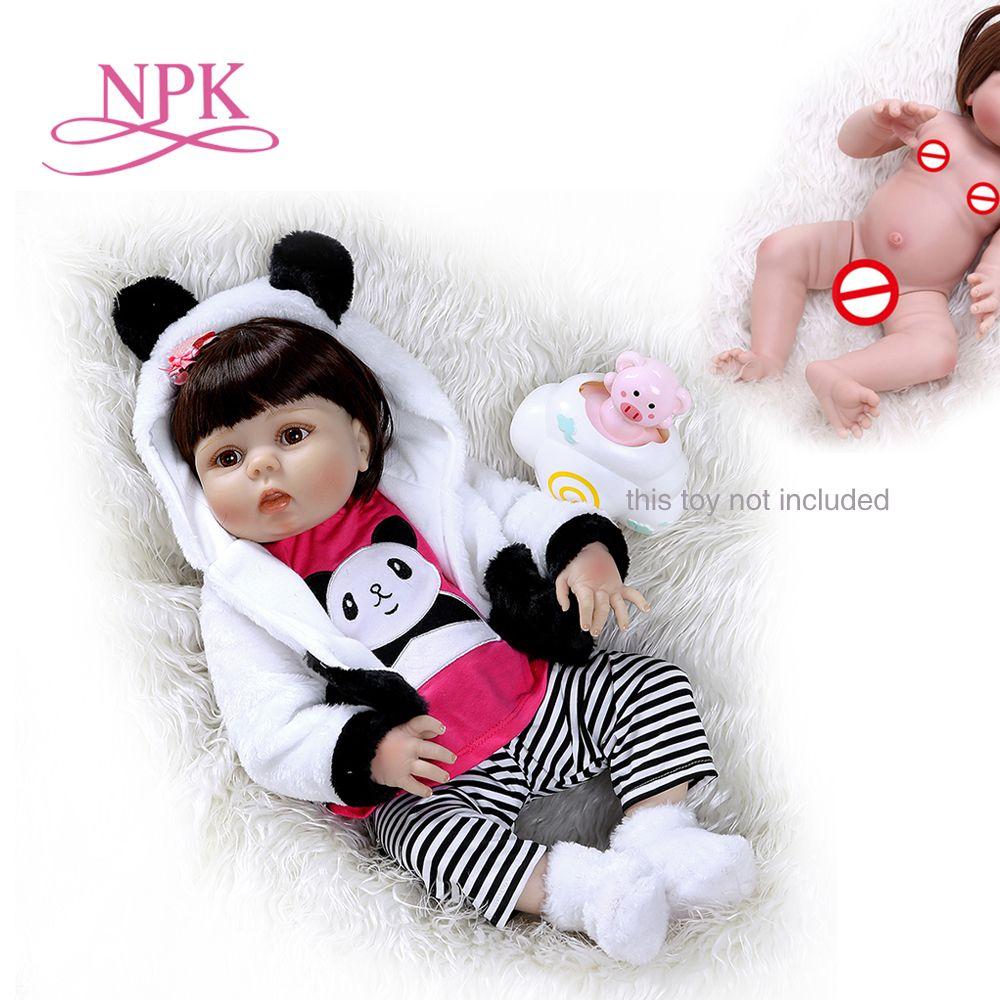 NPK 56 CENTIMETRI del bambino della bambola della ragazza di corpo pieno di silicone 0 3M dimensione reale del bambino bebe bambola reborn Vasca Da Bagno giocattolo Anatomicamente Corretta-in Bambole da Giocattoli e hobby su  Gruppo 1
