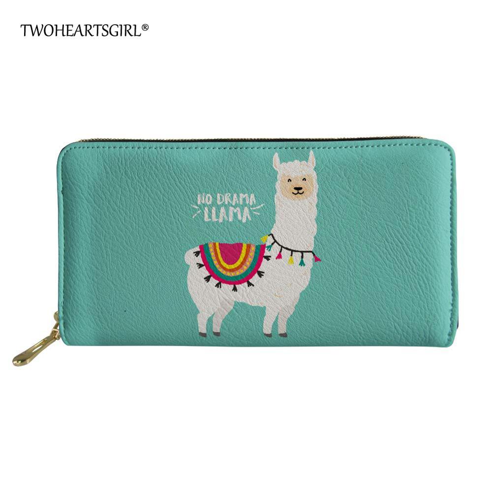 Llamas Or Alpacas Women Leather Zipper Wallet Travel Bags