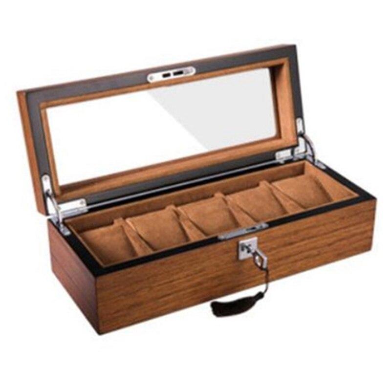 Rétro en bois écrin de montre bijoux Collection stockage Durable emballage titulaire montre organisateur boîte cercueil