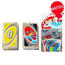 Mattel игры Uno H2O Edition карточная игра Семья забавные развлечение настольная игра Пластик с украшением в виде кристаллов водонепроницаемый игра...