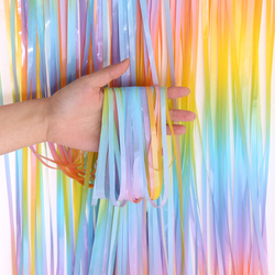 New Unicorn Party Rainbow Tinsel Party Decoration Birthday Decoration Birthday Party Decoration Adult Party Photo Zone Curtain