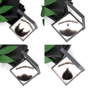 AIYEE Fake Mustache Handmade Human Hair Weave Fake Beard Used In Daily Life Video Film Television Production Lace Man Hair Wig