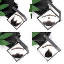 Искусственные усы aiyee человеческие волосы ручной работы плетение