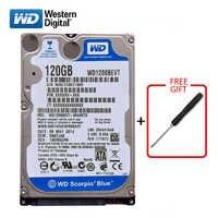 """WD marca azul 120Gb 2,5 """"SATA disco duro interno 120G HD Disco Duro 1,5-3 gb/s 5400-7200RPM disco duro para ordenador portátil envío gratis"""