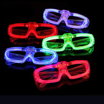 Neon party glowing glasses Led cold light glasses party glasses light up rave flash luminous glasses party decoration фото